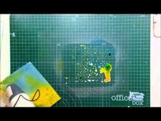 Cómo crear fondos con tintas Distress - TUTORIAL Scrapbook