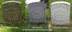Edward W Timmons - Forest Cemetery , Pickaway County Ohio - before cleaning and after cleaning.   #HonorOurVeterans by preserving their history and memorials.   Contact us today for conservation and preservation of your ancestor's monuments!