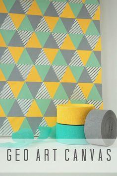 Tutorial: DIY Geometric Art Canvas  {Handcrafted Parties}