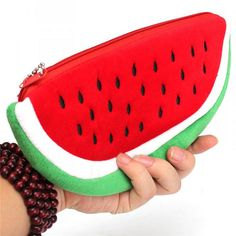 Red Practical Big Volume Watermelon Kids Pen Pencil Bag Case Gift Cosmetics Purse Wallet Holder Pouch For Student Officer Pencil Bags, Pencil Pouch, Purse Wallet, Coin Purse, Diy Back To School, Cute Wallets, Felt Patterns, Pen Case, Arts And Crafts Supplies