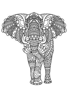 175 Best Elephant Coloring Pages For Adults Images In 2018