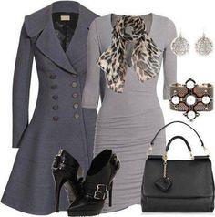 Gray fall outfit via @Kristina Kilmer DeHamer