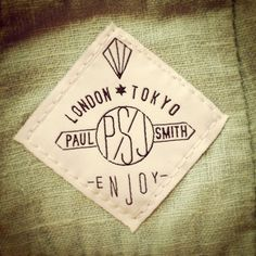 Paul Smith Woven Label: