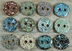 Ceramic Buttons by TheBrandowHomestead on Etsy, $3.00 each or 2/$5.