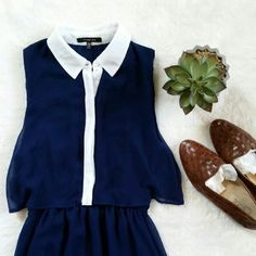 """💙Host Pick!💙 Navy/White Shirt Maxi Dress Three Ena shirt maxi dress. Top part is double layered. V-neck layer is under the shirt. You can leave the shirt part opened or closed. Mid thigh to hem is sheer. Size x-small. Pit to pit is 17"""" flat. Shoulder to hem is 29"""" (where skirt lining ends) plus 26"""" of sheer layer. In excellent pre-loved condition other than one little flaw. Hem came off a little in the chest part of under layer. Please see 4th photo. Three ena Dresses Maxi"""