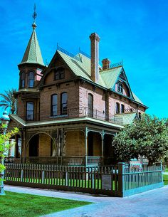 A Victorian house in downtown Phoenix, AZ.