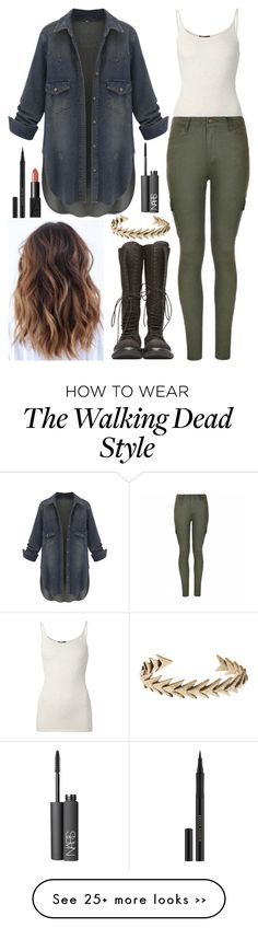 """Who Saw The 'Fear The Walking Dead' Premire?!"" by samantha-hannum on Polyvore featuring ATM by Anthony Thomas Melillo, Ally Fashion, Rick Owens, Lucky Brand, NARS Cosmetics and Kevyn Aucoin"