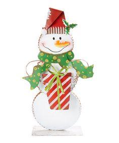 Love this Snowman Figurine - Set of Two on #zulily! #zulilyfinds