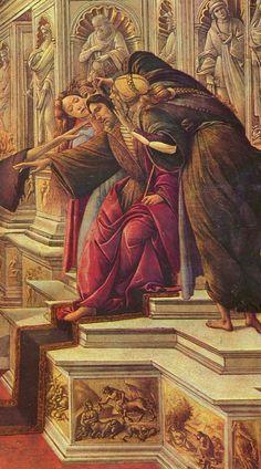 Sandro Botticelli-Calunnia(dettaglio) 1494-1495, tempera su tavola, 62×91 cm, Firenze, Galleria degli Uffizi