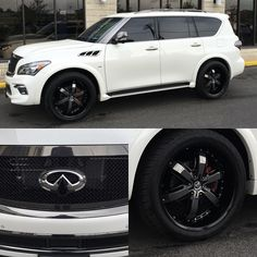 Yes that's black chrome. 2016 came in for a few upgrades Infinity Qx, Infiniti Qx 80, Square Photos, Luxury Suv, Love Car, Simple Bags, Future Car, Sexy Cars, Dream Cars