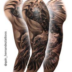 Flying eagle tattoo. By Joaquin Hernandez