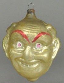 ️Antique Figural Glass Ornament.