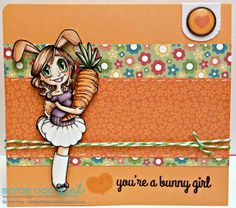 Kards by Katie Kreations- Bunny Girl Gwen from Some Odd Girl