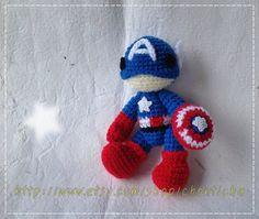 Captain America 6 inches  PDF amigurumi crochet by Chonticha, $5.00