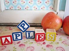 use blocks to highlight things at your party Alphabet Birthday Parties, Alphabet Party, Alphabet Cookies, 1st Birthday Parties, Croissant Sandwich, Mini Apple Pies, Brown Bags, Childrens Party, Sweet Treats