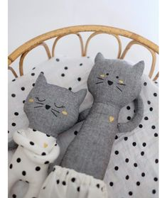 Silly & Billy - Petit doudou chat - Angus x S&B Grand Chat, Diy Bebe, Fabric Toys, Cat Doll, Sewing Dolls, Soft Dolls, Felt Toys, Doll Crafts, Diy Toys