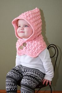 Crochet Toddler Hood. Free Pattern. By Ochre Pome