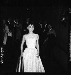 OSCARS PHOTOS FROM THE ACADEMY ARCHIVES: Audrey Hepburn, 1953.
