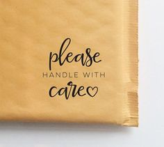 Please Handle With Care Stamp for Packaging and Shipping, Etsy Shop Stamp…