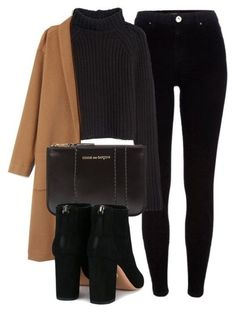 Winter/fall style | chic black outfit | camel hair coat  #shopthelook