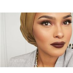 """Have you ladies checked out my New Fall inspired tutorial??! Copper Eyes and this lovely Vampy lip!  Youtube:Chinutay """