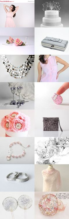 Pink and silver by Anat Dahari on Etsy--Pinned with TreasuryPin.com