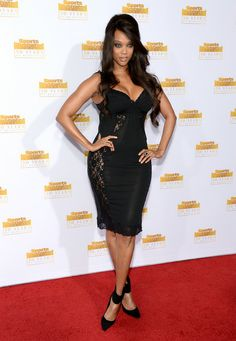 Tyra Banks attends NBC and Time Inc. celebrate the 50th anniversary of the Sports Illustrated Swimsuit Issue at Dolby Theatre on January 14, 2014 in Hollywood, California.