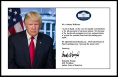 Personalized Donald Trump 11x17 Framed Photo Letter Signed no collusion