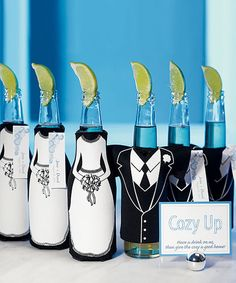 Wedding Party Bottle Cozy - good idea for gifts for the wedding party