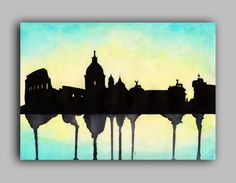 Watercolour City Series London New York Paris by paintthemoment