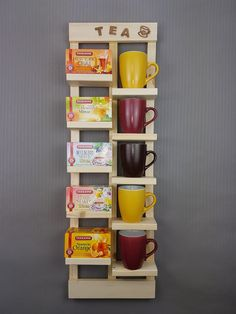 Wall shelves - tea shelf upcycling - a unique product by Marrys-Welt at DaWand . Wall shelves – tea shelf upcycling – a unique product by Marrys-Welt on DaWanda Source by thesemuellers
