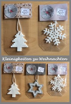 Little things for Christmas, neighborhood gifts, iron beads, homemade, crafts for all ages Homemade Christmas, Kids Christmas, Christmas Crafts, Christmas Decorations, Christmas Ornaments, Thanksgiving Crafts, Christmas Perler Beads, Diy And Crafts, Crafts For Kids