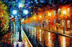 Some inspirational art to inspire creativity! Blue Lights, Leonid Afremov
