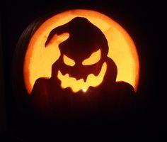 Pumpkin I carved at halloween. Oogie Boogie from Nightmare before Christmas OogieBoogie-Pumpkin Awesome Pumpkin Carvings, Scary Pumpkin Carving, Pumpkin Carving Templates, Ghost Pumpkin, Pumpkin Ideas, Pumpking Carving, Pumpkin Patterns, Pumpkin Designs, Halloween Wood Crafts