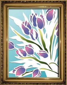 Tulips, Papercutting - Easy Crafts - Art Projects for Kids and Adults