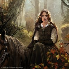 magali villeneuve arwen art   Magali Villeneuve Portfolio: The Lord of the Rings LCG : Arwen ...