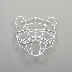 Polar Bear Trophy Head White by Gaurav Nanda