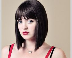 medium length stacked bob with bangs | 25 Exotic Medium Length Bob Hairstyles - SloDive