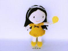 Muñeca amigurumi Riquiña,Amigurumi crochet muñeca,Juguete muñeca,muñecas regalo