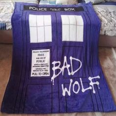 Want to cover yourself with this Dr Who Blanket? - This is perfect for any Doctor Who fans! - While Supplies Last! Limit 10 Per Order Please allow 4-6 weeks for shipping Item Type: Blanket Size: 51 in