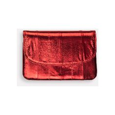 Handy Rumba Red Metallic Purse (€27) ❤ liked on Polyvore featuring bags, handbags, red purse, man bag, hand bags, red hand bags and red bag