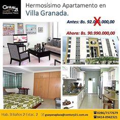 Oportunidad de inversión Urb. Villa Granada. Apartamento de 119 m2. Excelentes acabados.  Precio negociable.  #Guayana #ventas #ventadeinmuebles  #puertoordaz  #Century21  #inmuebles  #C21  #apartamento @c21guayanaplaza