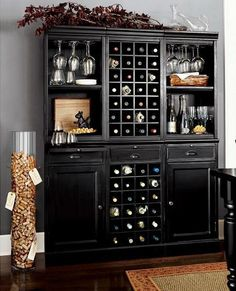 home bar design ideas, furniture and decorative accessories also love the cork storage...write the date you opened the bottle and who you were with?