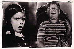Vintage TV Classic Addams Family Postcard:  Wednesday Addams [Lisa Loring] and Pugsley Addams [Ken Weatherwax]