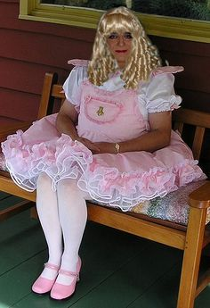 Mommy Liz loves to dress up sissy boys like this :)