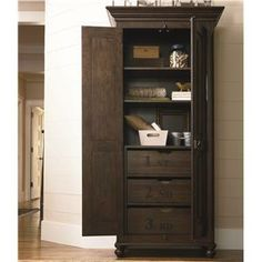 Paula Deen By Universal Down Home Utility Cabinet With 3 Tray Drawers