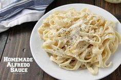 Homemade Alfredo Sauce Recipe - quick authentic alfredo sauce from scratch with fresh ingredients Authentic Italian Alfredo Sauce Recipe, Olive Garden Alfredo Sauce Recipe Easy, Make Alfredo Sauce, Italian Pasta, Pasta Sauce Recipes, Chicken Pasta Recipes, Easy Pasta Recipes, Veggie Recipes, Cooking Recipes