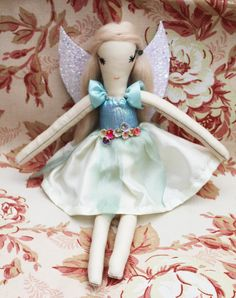 NEW Fairy Ragdoll Handmade from Vintage and by TwiiceLoved on Etsy