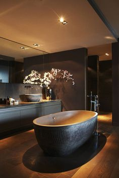 nice 10 black luxury bathroom design ideas by - Home Decor Dark Bathrooms, Dream Bathrooms, Beautiful Bathrooms, Luxury Bathrooms, Spa Bathrooms, Contemporary Bathrooms, Bathroom Design Luxury, Luxury Interior Design, Contemporary Interior