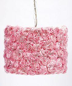 Another great find on #zulily! Pink Rose Garden Pendant Light #zulilyfinds